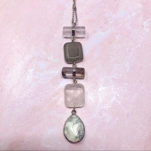 LOFT Dangle Rock Pendant Necklace